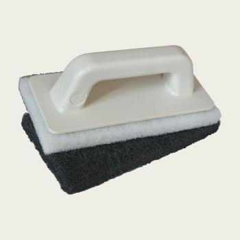 Комплект для затирания швов ручка+белая (мягкая) губка+чёрная (жёсткая) губка производства Mapei
