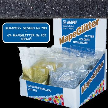 Блестки MapeGlitter 202 цвет серый производства Mapei весом 100 грамм