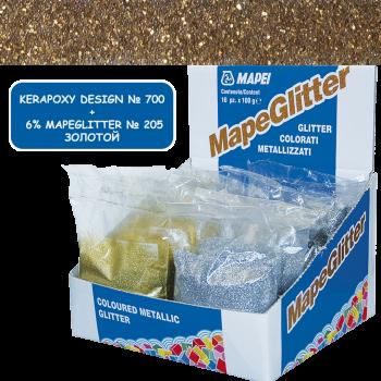 Блестки MapeGlitter 205 цвет золотой производства Mapei весом 100 грамм