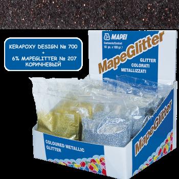 Блестки MapeGlitter 207 цвет коричневый производства Mapei весом 100 грамм