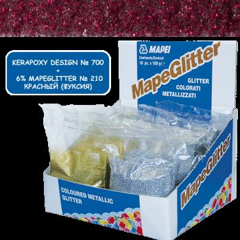 Блестки MapeGlitter 210 цвет красный (фуксия) производства Mapei весом 100 грамм