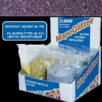 Блестки MapeGlitter 212 цвет светло-фиолетовый производства Mapei весом 100 грамм