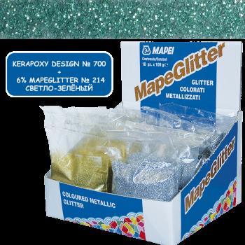 Блестки MapeGlitter 214 цвет светло-зеленый производства Mapei весом 100 грамм