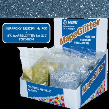 Блестки MapeGlitter 217 цвет голубой производства Mapei весом 100 грамм