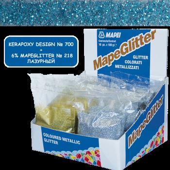 Блестки MapeGlitter 218 цвет лазурный производства Mapei весом 100 грамм