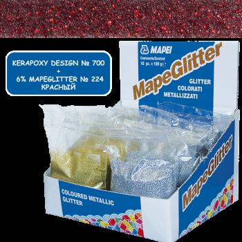 Блестки MapeGlitter 224 цвет красный производства Mapei весом 100 грамм