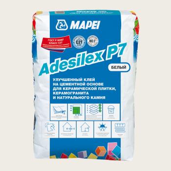 Adesilex P7 клей для плитки белый производства Mapei весом 25 кг
