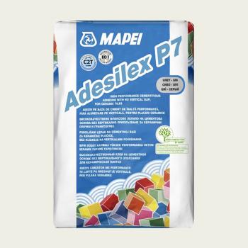 Adesilex P7 клей для плитки серый производства Mapei весом 25 кг