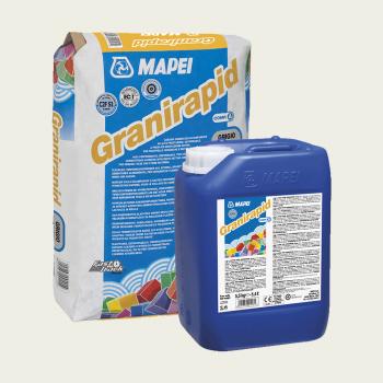 Granirapid клей для плитки цвет серый комплект производства Mapei весом 30,5 кг