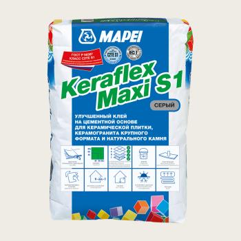 Mapei Keraflex Maxi S1 клей для керамической плитки серый производства Mapei весом25 кг