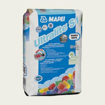 Ultralite S1 клей для плитки серый производства Mapei весом 15 кг