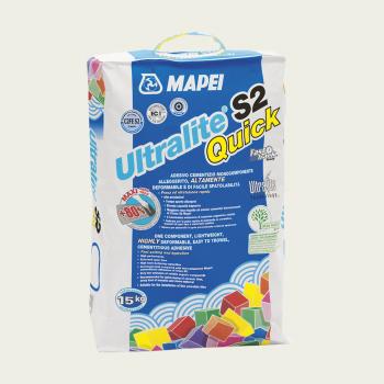Ultralite S2 QUICK клей для плитки серый производства Mapei весом 15 кг